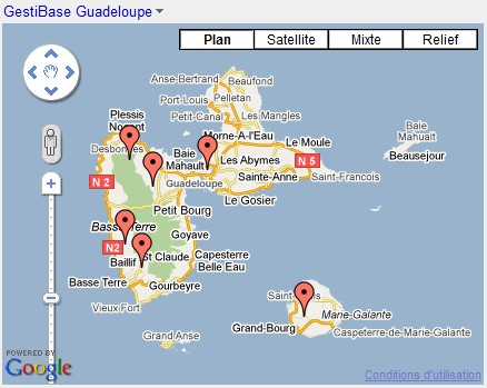 GestiBase : Implantation Guadeloupe